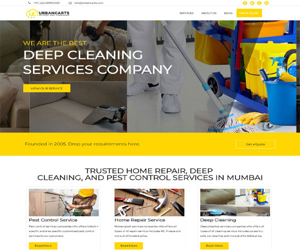 Urbancarts - Pest Control Services, Repairing Services, Deep Cleaning Services